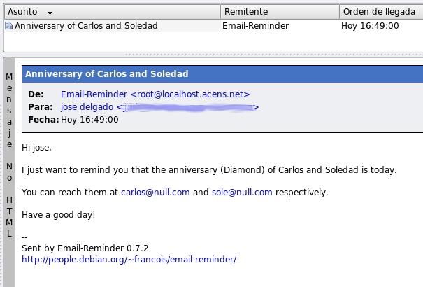 Email Reminder Recuerda Tus Citas Y Eventos Enviandote Un Correo