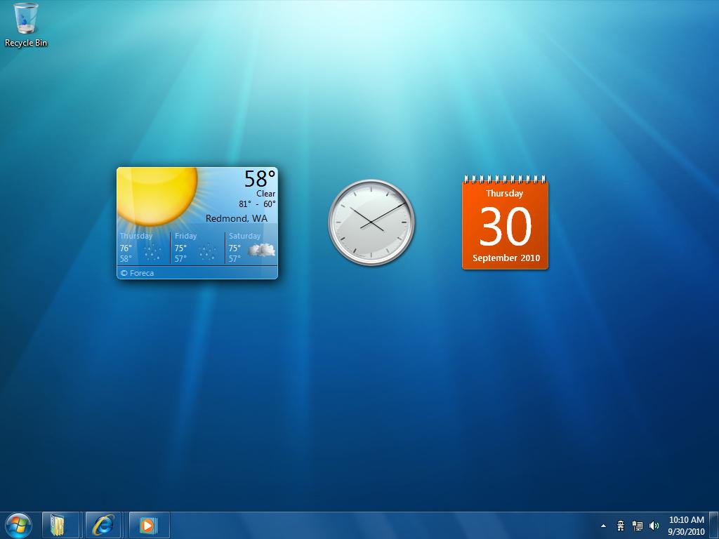 Windows 7 se parece demasiado a kde ubuntu life for Windows 7 bureau vide