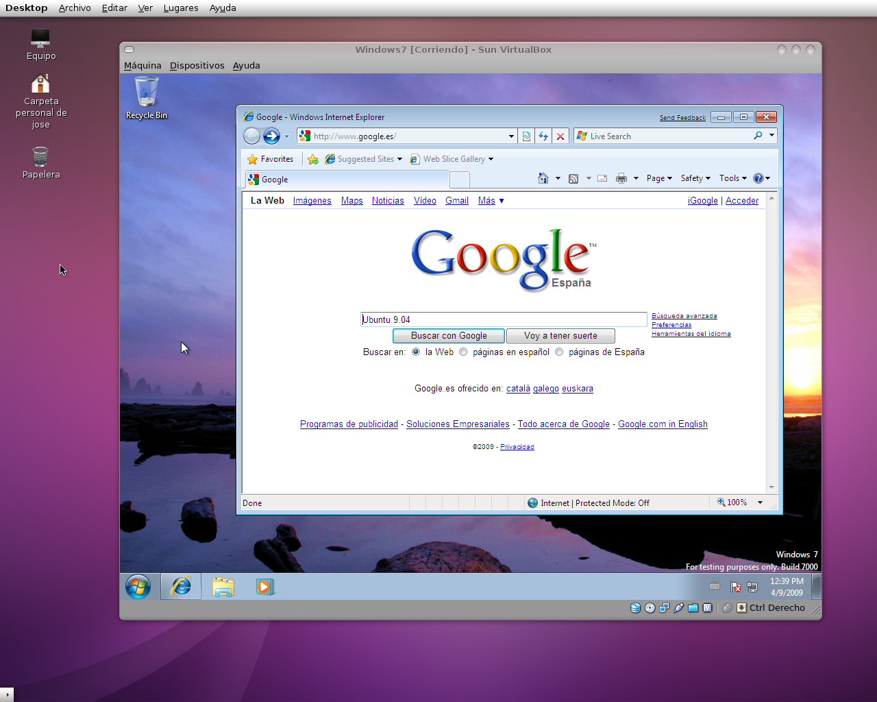 descargar windows 7 para virtualbox