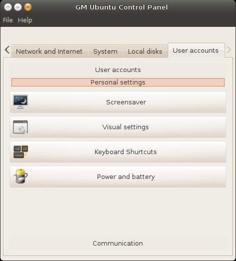 how to go control panel in ubuntu