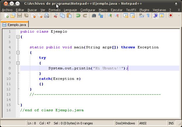 notepad++ pour ubuntu