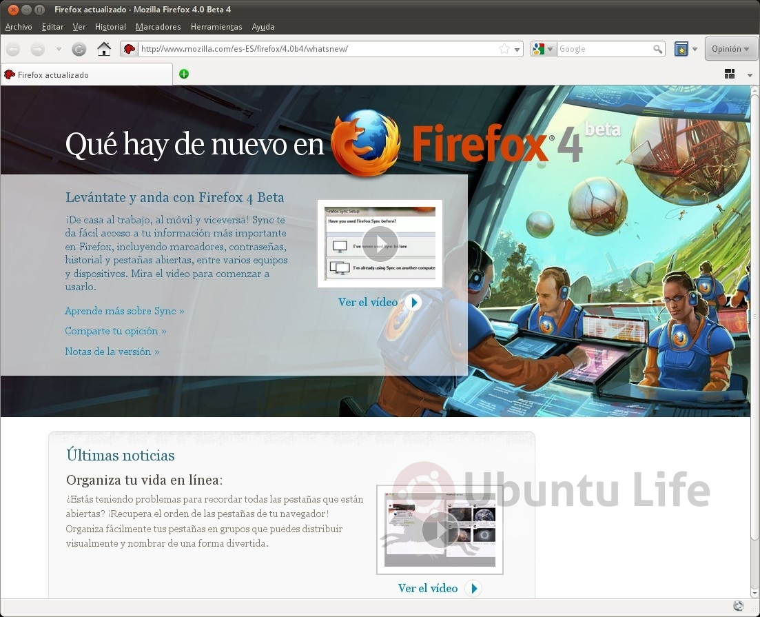 Ya se encuentra disponible la beta 4 de Firefox 4.